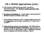 us v british approaches cont