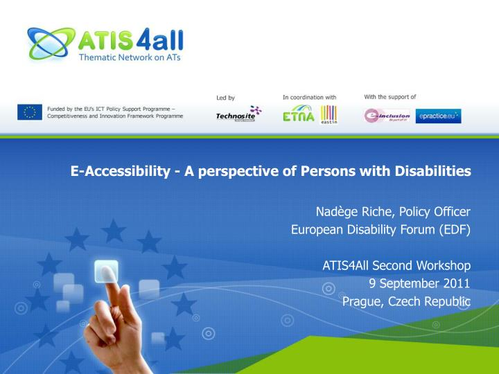 E accessibility a perspective of persons with disabilities