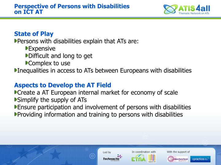 Perspective of Persons with Disabilities