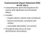 environmental impact statement eis 40 cfr 1502 3