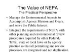 the value of nepa the practical perspective