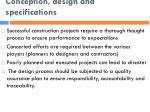 conception design and specifications