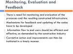 monitoring evaluation and feedback