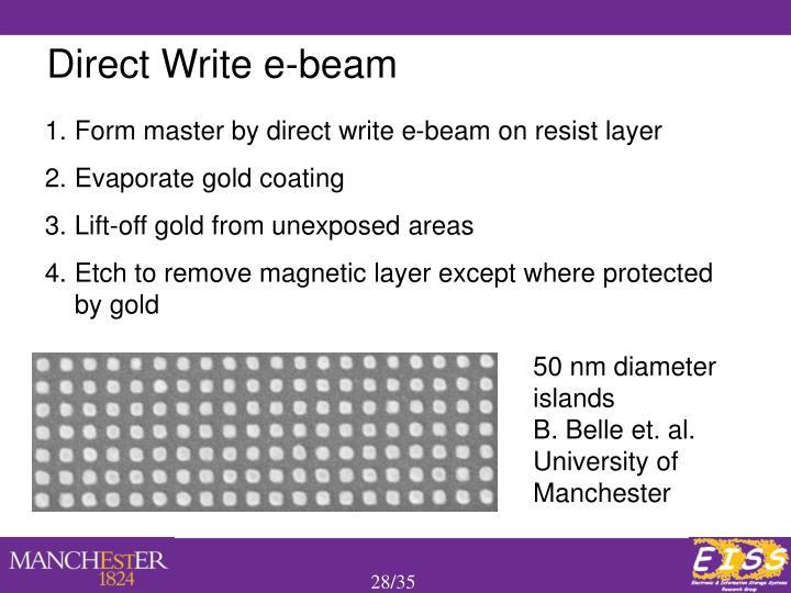 Direct Write e-beam