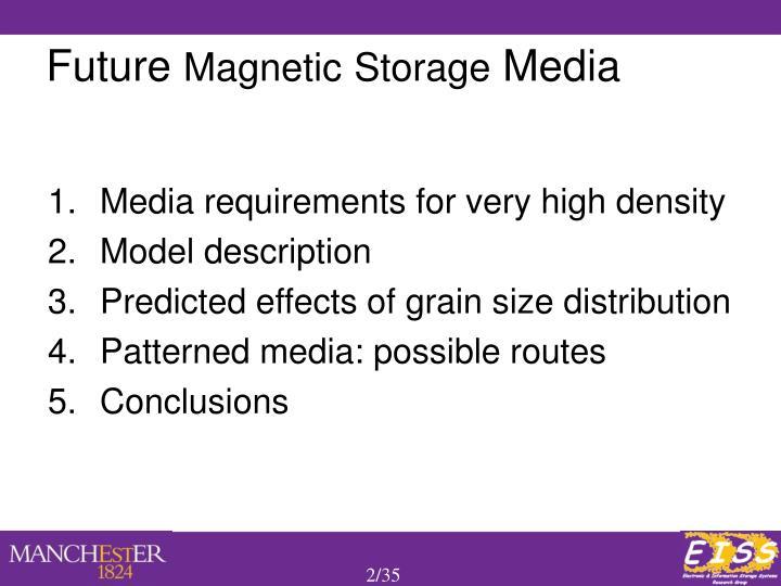 Future magnetic storage media