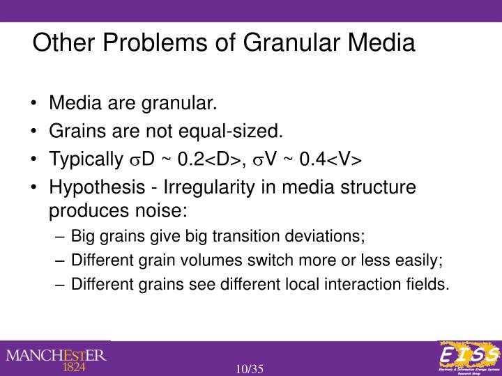 Media are granular.