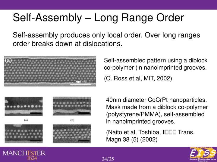 Self-Assembly – Long Range Order
