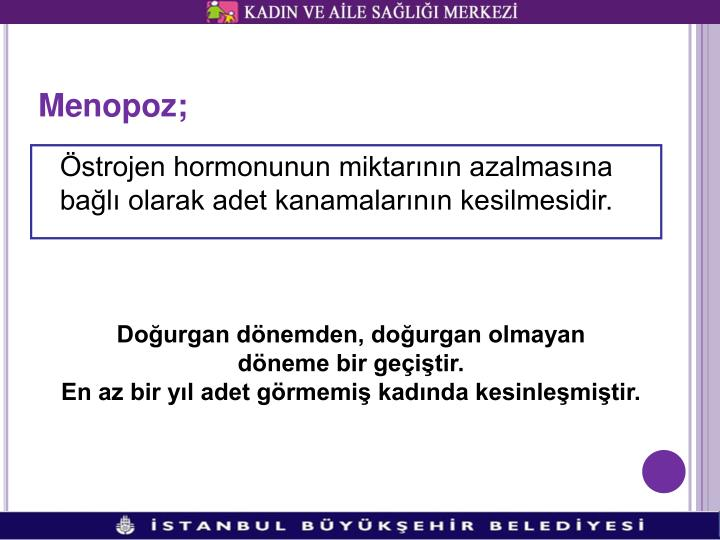 Menopoz;