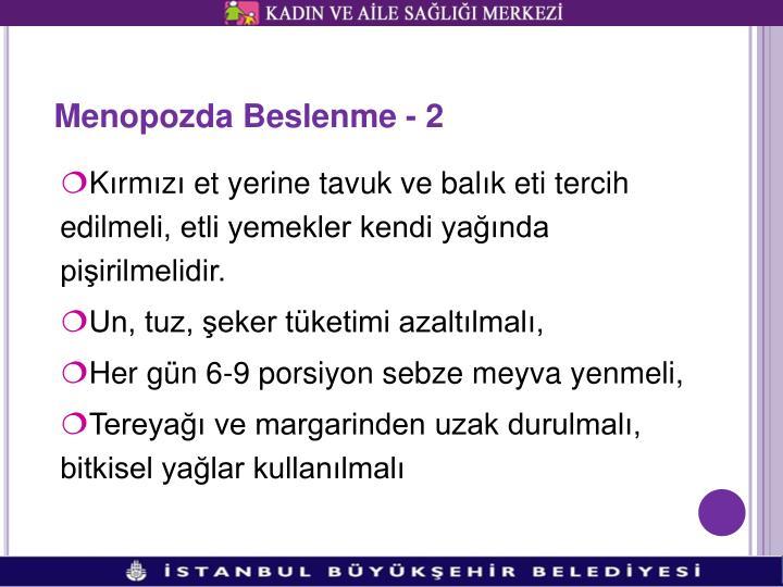 Menopozda Beslenme - 2