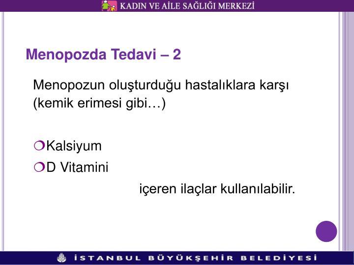 Menopozda Tedavi – 2