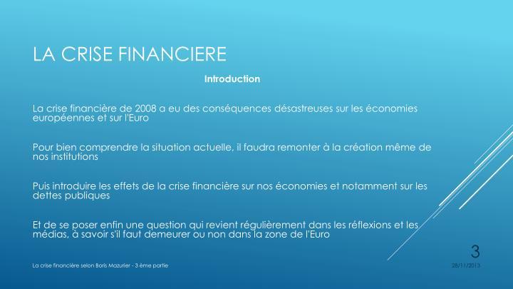 La crise financiere2