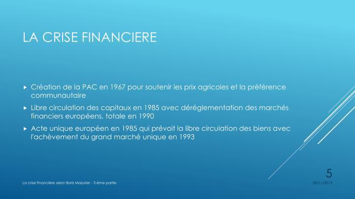 Création de la PAC en 1967 pour soutenir les prix agricoles et la préférence communautaire