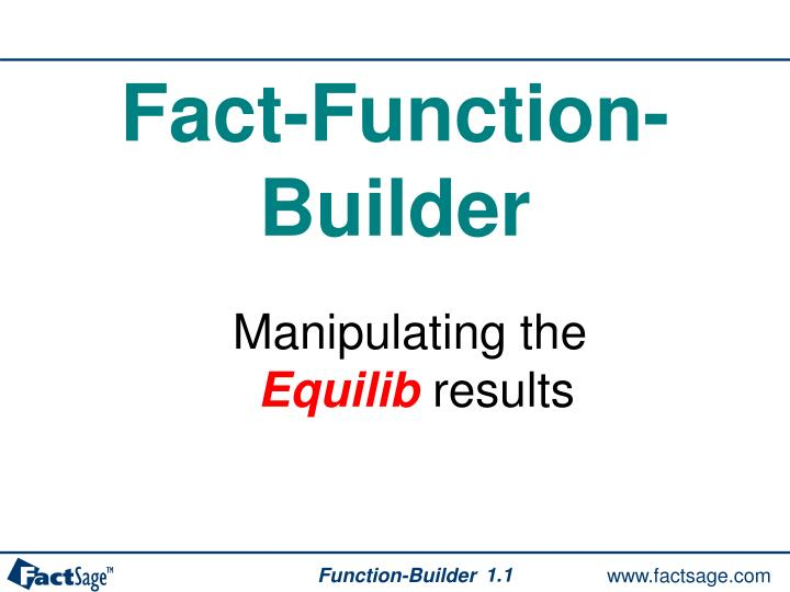 Fact-Function-Builder