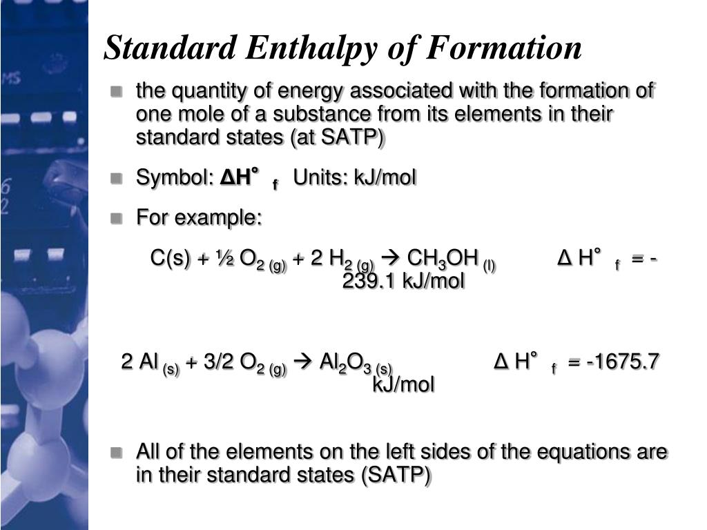 PPT - Standard Enthalpies of Formation PowerPoint