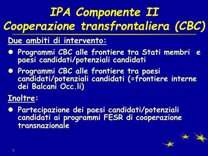 IPA Componente II