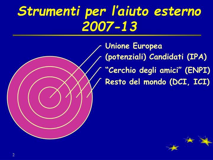 Strumenti per l aiuto esterno 2007 13