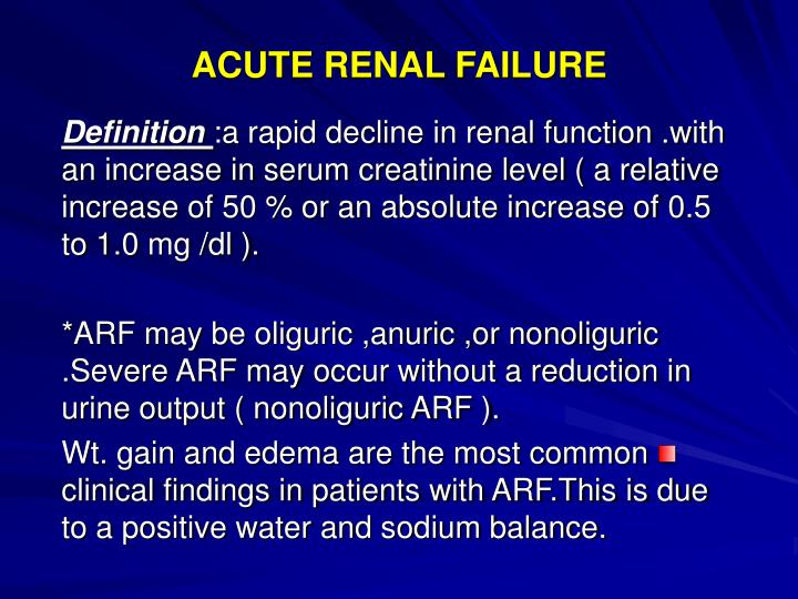 Ppt Acute Renal Failure Powerpoint Presentation Free Download Id 4097408