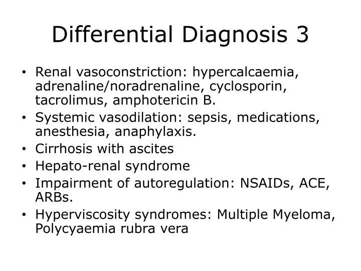 Differential Diagnosis 3