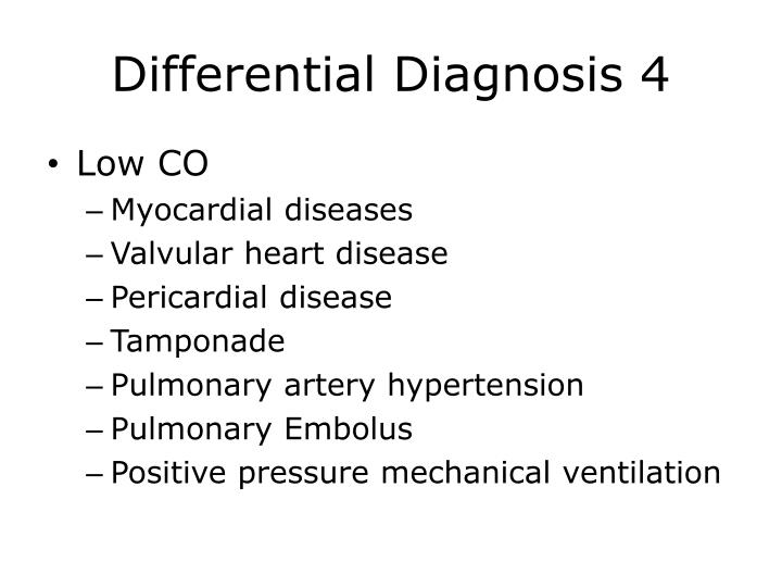 Differential Diagnosis 4