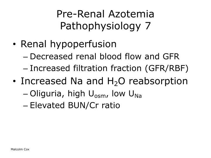Pre-Renal Azotemia