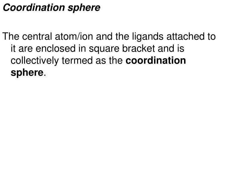 Coordination sphere