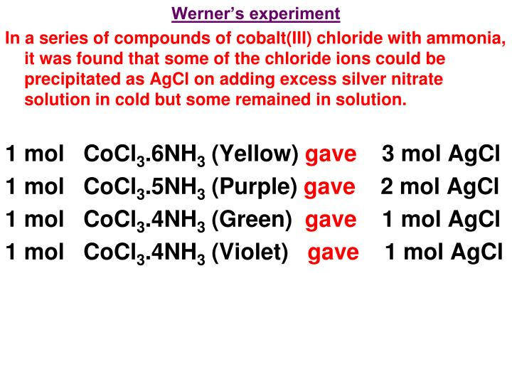 Werner's experiment