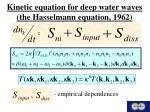 kinetic equation for deep water waves the hasselmann equation 1962