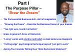 part i the purpose pillar draw the dream