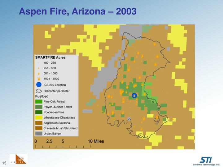 Aspen Fire, Arizona – 2003