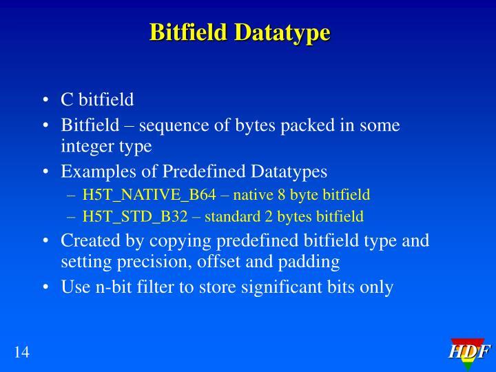 Bitfield Datatype