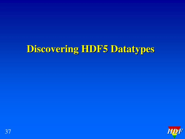 Discovering HDF5 Datatypes