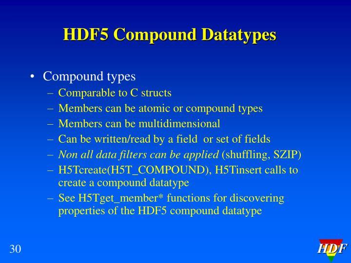 HDF5 Compound Datatypes