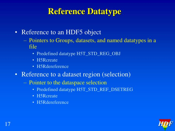 Reference Datatype