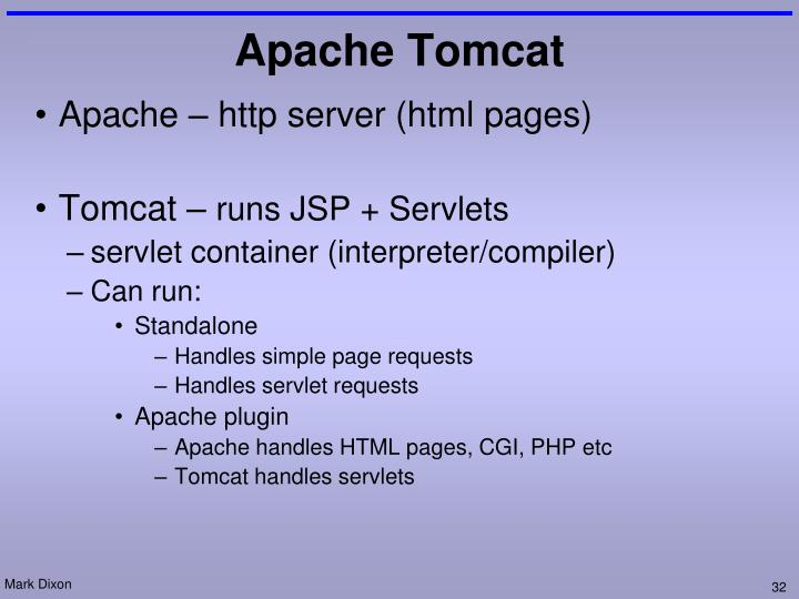 Apache – http server (html pages)