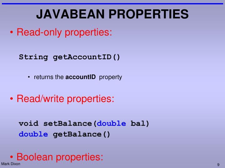 Read-only properties: