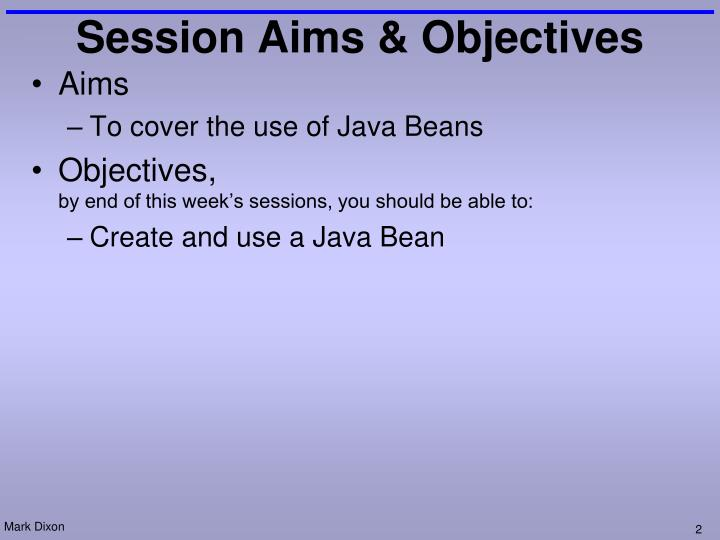 Session aims objectives