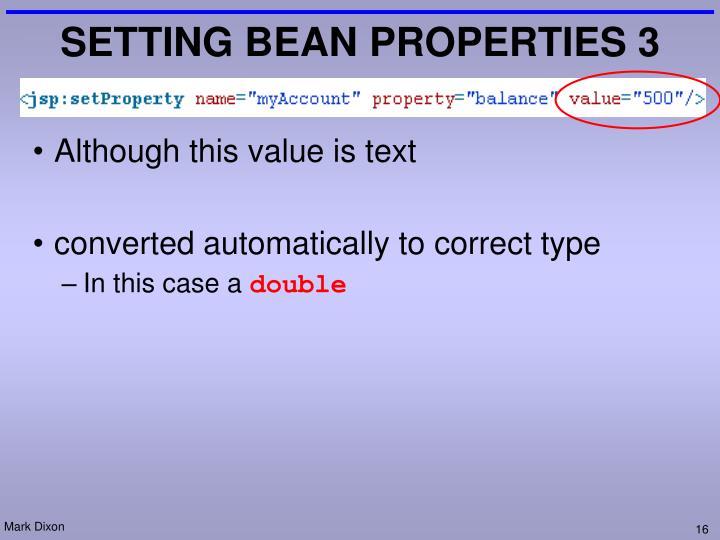 SETTING BEAN PROPERTIES 3