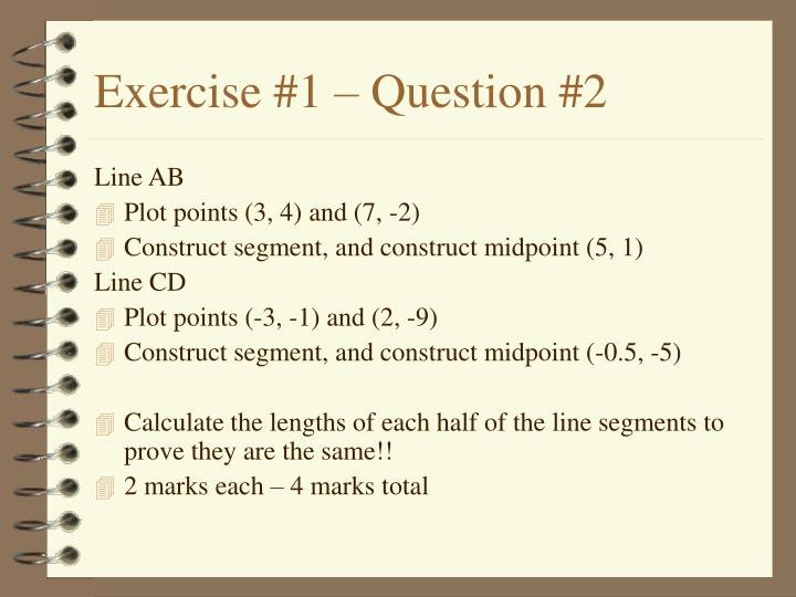 Exercise #1 – Question #2
