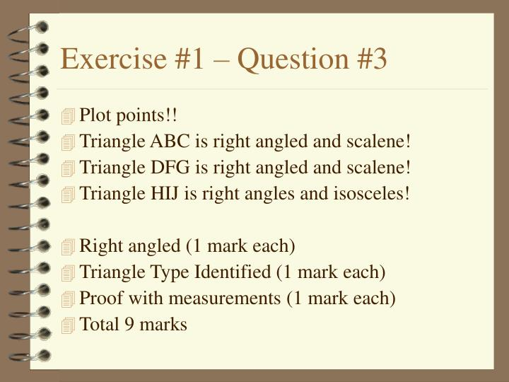 Exercise #1 – Question #3