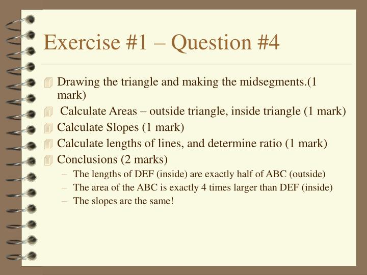 Exercise #1 – Question #4