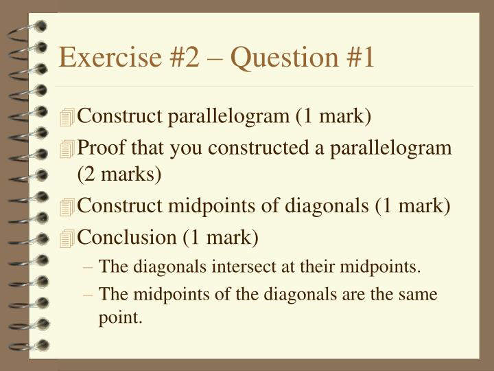 Exercise #2 – Question #1