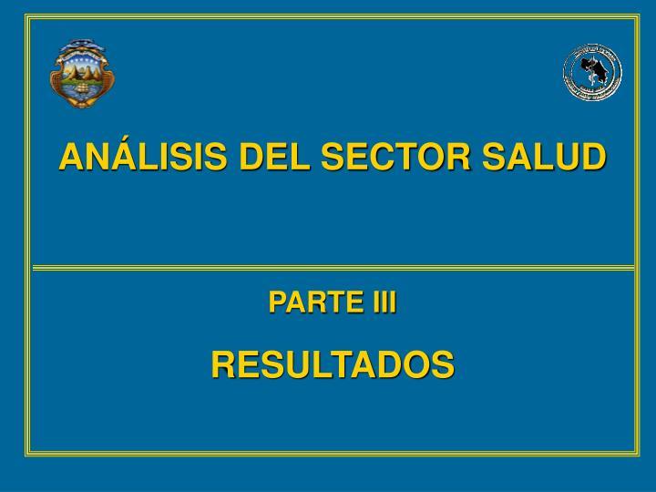 ANÁLISIS DEL SECTOR SALUD