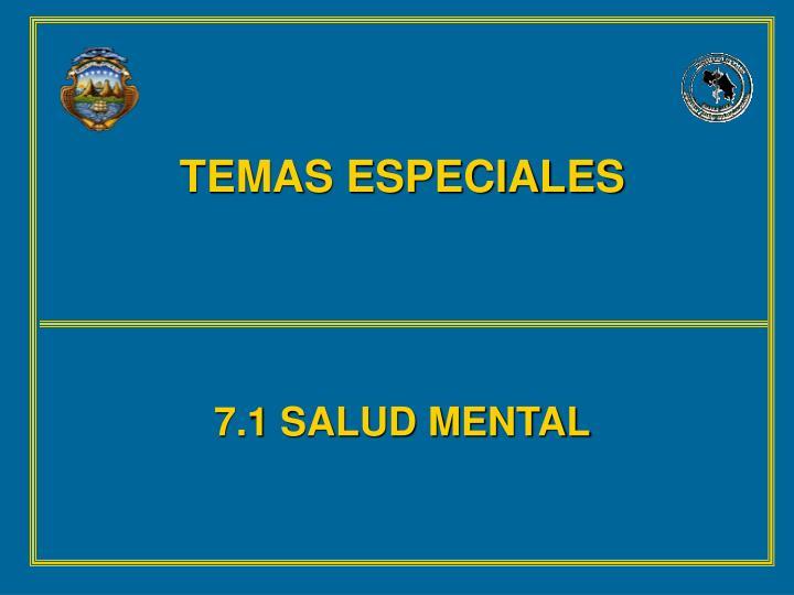 TEMAS ESPECIALES