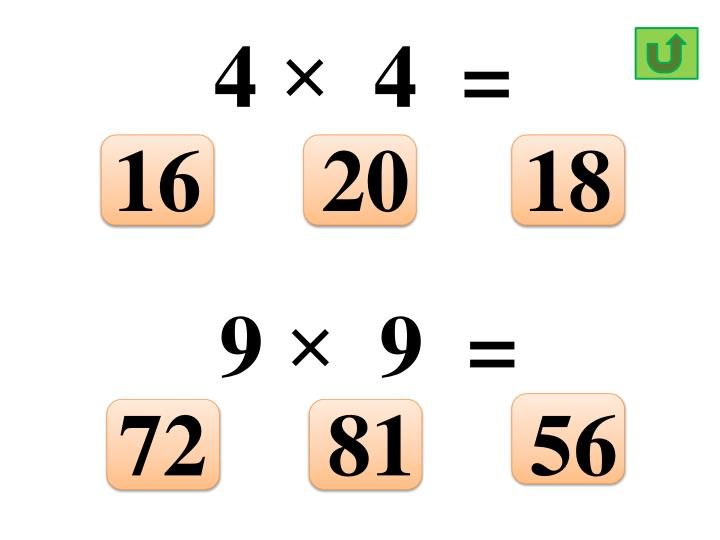 4 ×  4  =