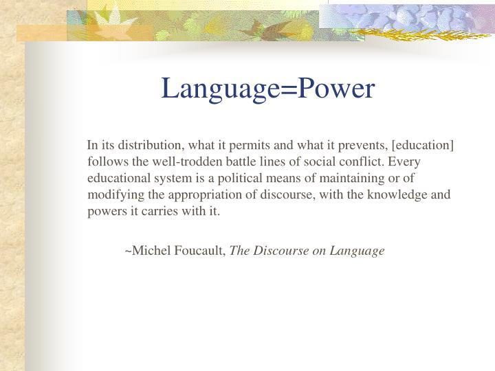 foucaults power and language bengali essay Genel steps research proposal writing ppt yayın tarihi: 25 şubat 2018 yazar.