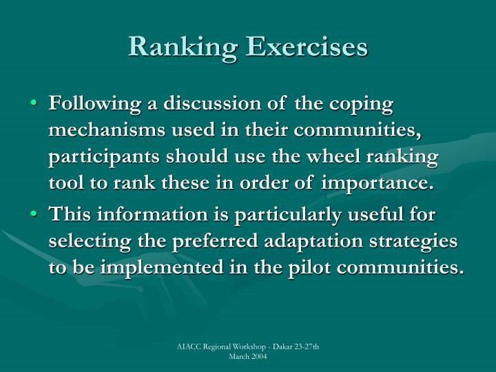 Ranking Exercises