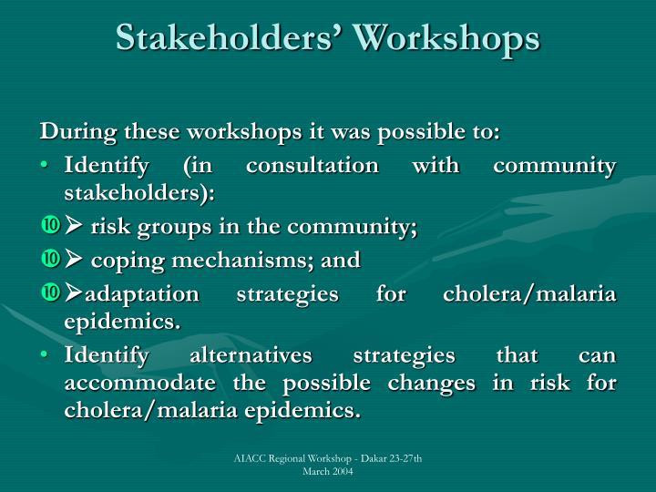 Stakeholders' Workshops