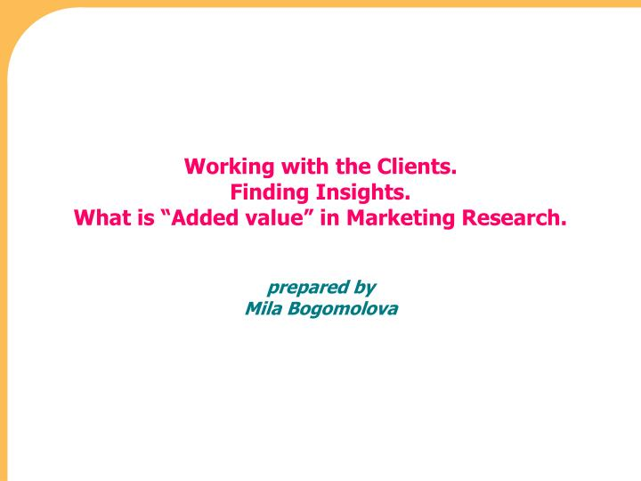 value of marketing research About market research ginger de los rios 2018-04-10t02:35:45+00:00 about market research i the importance of market research ii global market research vs domestic market research.