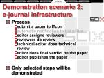 demonstration scenario 2 e journal infrastructure