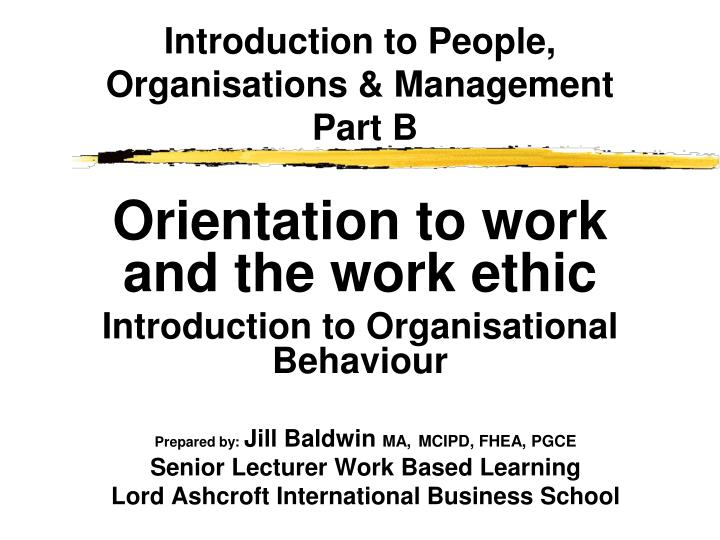 introduction to people organisation and management Definition of leadership: the activity of leading a group of people or an organization or the ability to do this unlike management, leadership cannot be.
